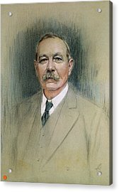 Portrait Of Sir Arthur Conan Doyle  Acrylic Print