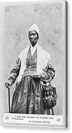 Portrait Of Sojourner Truth Acrylic Print