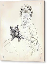 Portrait Of Sylwia Acrylic Print