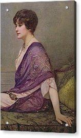 Portrait Of Th Ecourturier Madame Paquin Acrylic Print by Henri Gervex