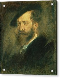 Portrait Of The Artist Wilhelm Busch 1832-1908, C.1878 Oil On Canvas Acrylic Print