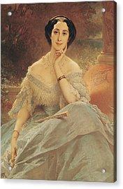 Portrait Of The Countess Of Hallez-claparede Acrylic Print