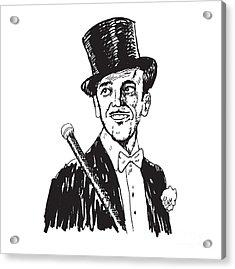 Portrait Of The Elegant Cheerful Man Acrylic Print