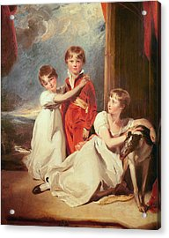 Portrait Of The Fluyder Children, 1805 Oil On Canvas Acrylic Print