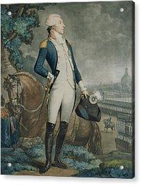 Portrait Of The Marquis De La Fayette Acrylic Print