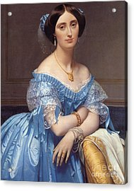 Portrait Of The Princesse De Broglie Acrylic Print by Jean Auguste Dominique Ingres