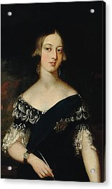 Portrait Of The Young Queen Victoria Acrylic Print by English School
