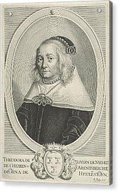 Portrait Of Theodora Van Zuylen Van Nijevelt Acrylic Print