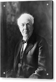 Portrait Of Thomas Edison Acrylic Print by Underwood Archives