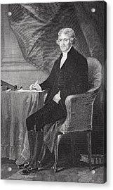 Portrait Of Thomas Jefferson Acrylic Print