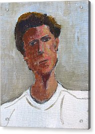 Acrylic Print featuring the painting Portrait Of Troy by Anita Dale Livaditis