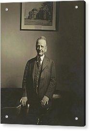 Portrait Of U.s. Congressman Acrylic Print by Edward Steichen