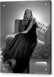 Portrait Of Veronica Lake Acrylic Print by John Rawlings