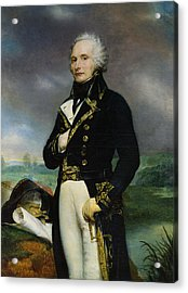 Portrait Of Viscount Alexandre-francois-marie De Beauharnais 1760-94 After A Painting By J. Guerin Acrylic Print by Georges Rouget