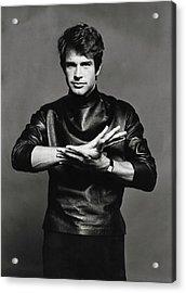Portrait Of Warren Beatty Acrylic Print