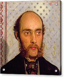 Portrait Of William Michael Rossetti 1829-1919 By Lamplight, 1856 Panel Acrylic Print