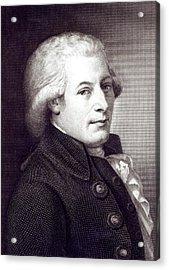 Portrait Of Wolfgang Amadeus Mozart Acrylic Print by Johann Heinrich Wilhelm Tischbein
