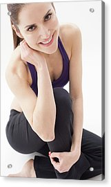 Portrait Of Woman Smiling Acrylic Print