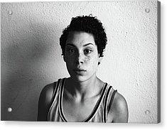 Portrait Of Young Woman Acrylic Print by Talia Ali / Eyeem