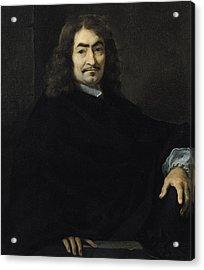 Portrait Presumed To Be Rene Descartes Acrylic Print by Sebastien Bourdon