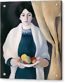 Portrait With Apples Acrylic Print by Mountain Dreams