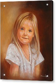 Portraits Acrylic Print by Karen Cade