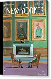 Portraits Of Wealthy Men Are Displayed Acrylic Print