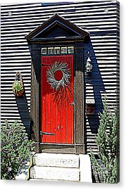 Portsmouth Door 2 Acrylic Print by Kevin Fortier