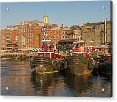 Portsmouth Harbor With Tugboats Acrylic Print