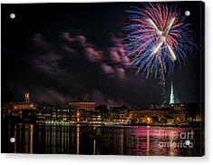 Portsmouth Nh Fireworks 2013 Acrylic Print by Scott Thorp