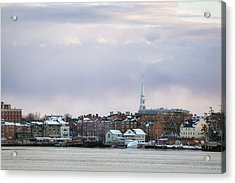 Portsmouth's Winter Skyline Acrylic Print by Eric Gendron
