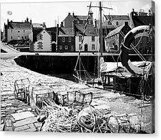Portsoy Harbour 1 Acrylic Print by Malcolm Suttle