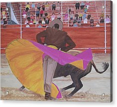 Portuguese Bullfighter Acrylic Print by Hilda and Jose Garrancho