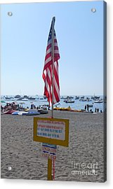 Acrylic Print featuring the photograph Positano - American Flag  by Nora Boghossian