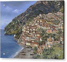 Positano E La Torre Clavel Acrylic Print by Guido Borelli