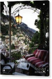 Positano Evening Acrylic Print by George Oze