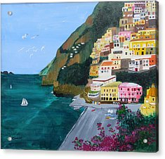 Positano Italy Acrylic Print