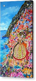 Positano Pearl Of The Amalfi Coast Acrylic Print