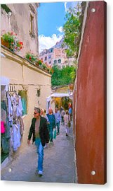 Positano Acrylic Print by SM Shahrokni
