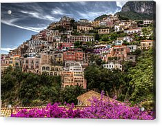 Acrylic Print featuring the photograph Positano by Uri Baruch