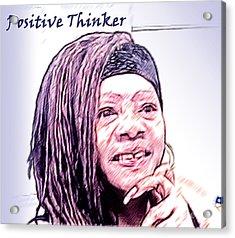 Positive Thinker Pastel Acrylic Print