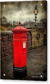 Post Box V2 Acrylic Print by Adrian Evans