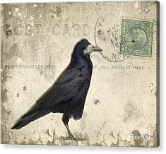 Post Card Nevermore Acrylic Print by Edward Fielding