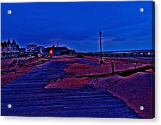 Post Sandy Effects Acrylic Print by Joe  Burns
