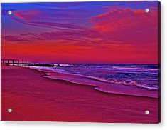 Post Sandy Pier Acrylic Print by Joe  Burns