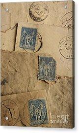 Postage Stamp Acrylic Print by Bernard Jaubert