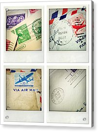 Postal Still Life Acrylic Print by Les Cunliffe