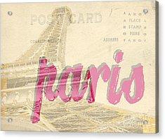Postcard From Paris Acrylic Print by Edward Fielding
