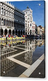 Acrylic Print featuring the photograph Postcard From Venice by Georgia Mizuleva