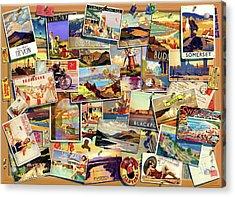 Postcard Uk Acrylic Print by Garry Walton